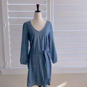 J Crew chambray bubble sleeve dress, size S